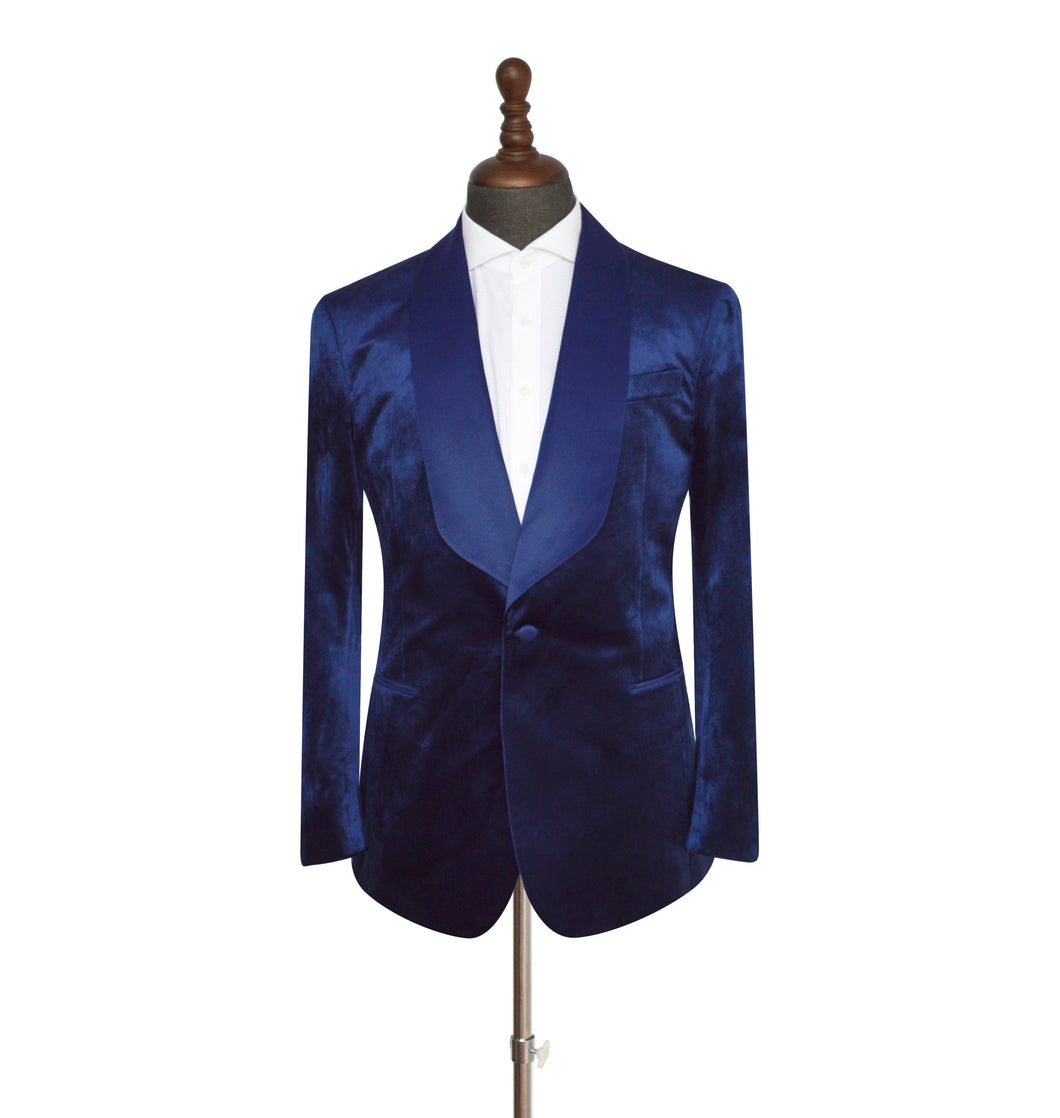 Men's Navy Blue Velvet 2 Piece Tuxedo