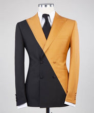 Men's Black Yellow 2 Piece Suit