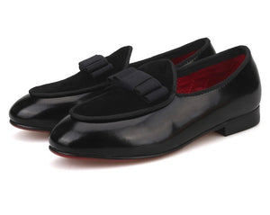 Children leather BowTie loafers