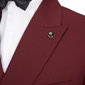 Men's 2 Piece Slim Fit Red double breasted Suit