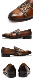 Men's Brown Strap Slip On Loafers