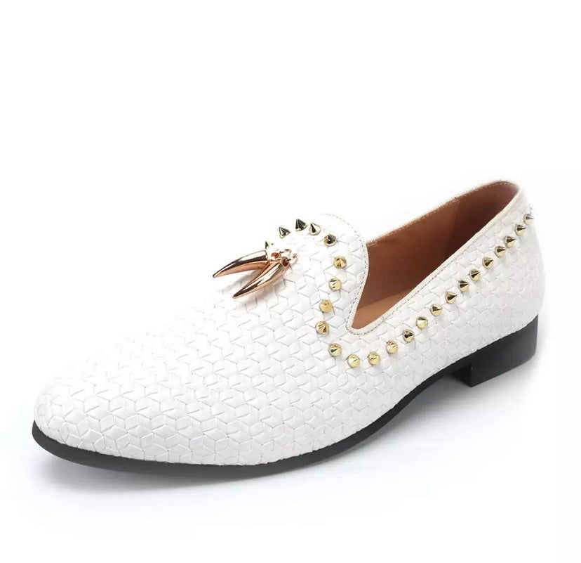 Men's Gold Tassels Loafers