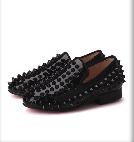Kids Black children spikes Shoes Loafers