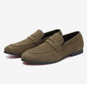 Men khaki casual shoes Loafers