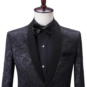 Men's Black Weave Blazer + pants
