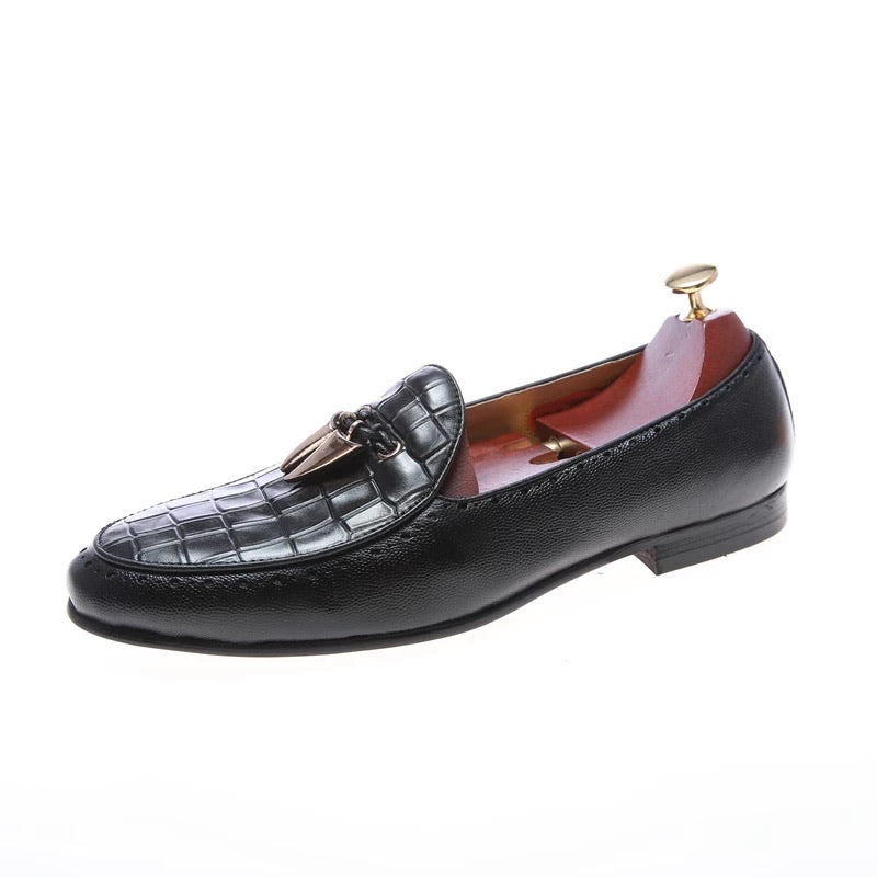 Men's Black Italian leather Loafers