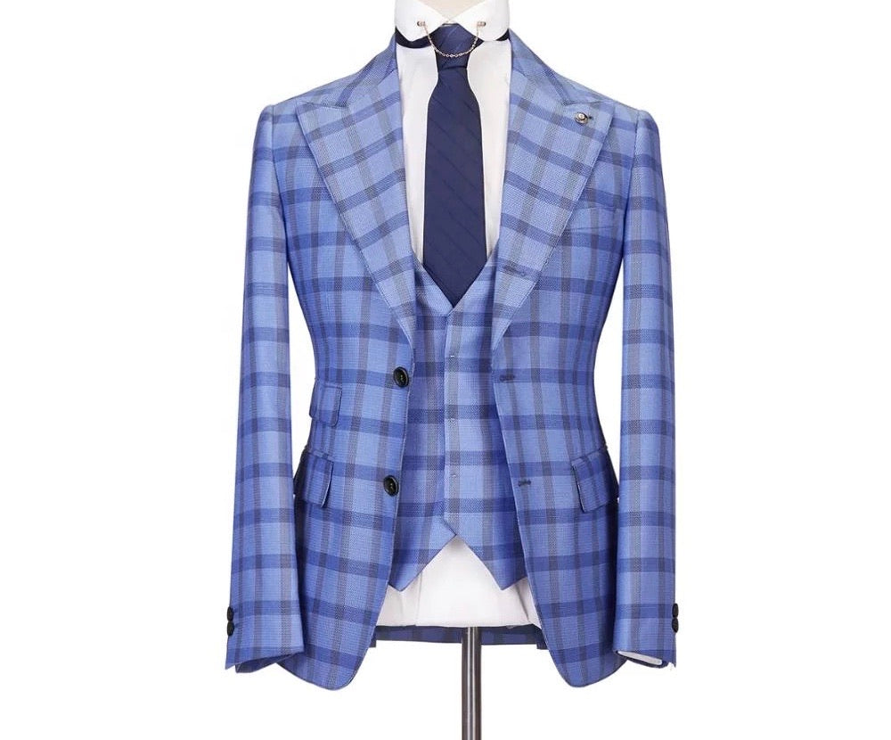 Men's 2 Piece Slim Fit blue Suit