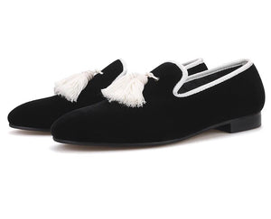 Men's Black Tassel Loafers
