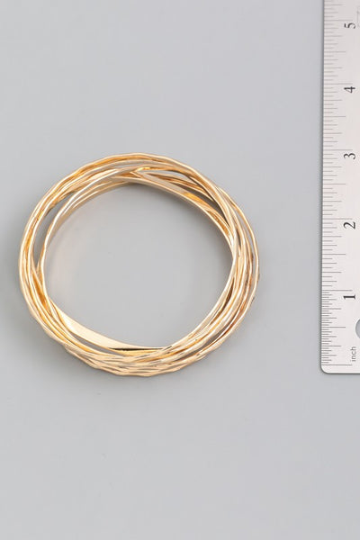 Thin Bangle Bracelet set