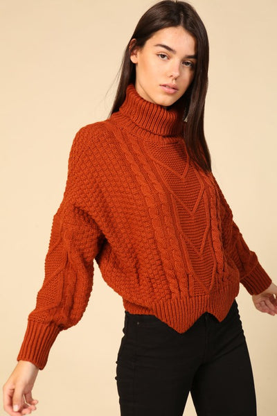 Nala Scallop hem sweater