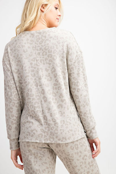 Karter Leopard Lounge Top