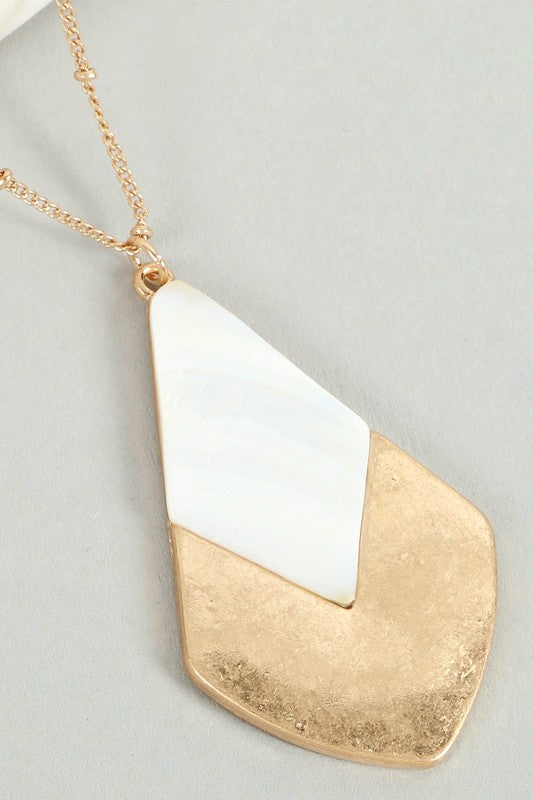 Long drop necklace
