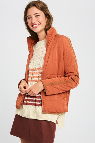 Baylor Quilted Rust Jacket
