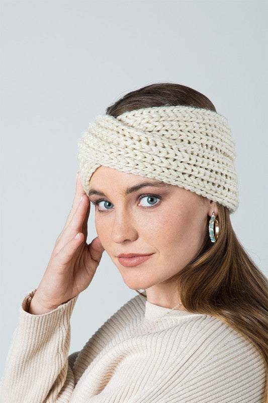 Twisted Knit Winter Headband