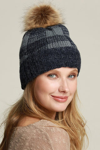 Buffalo Check knit beanie