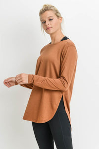 Poe Long Sleeve Side slit top