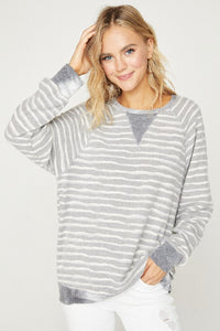 Lightweight stripe pullover - the Easton