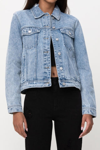 Distressed Light denim jacket - the Jessie
