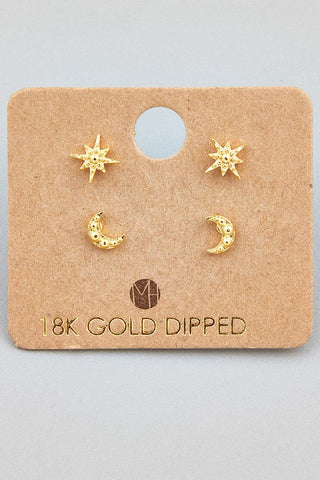 Sun & Moon stud earring set