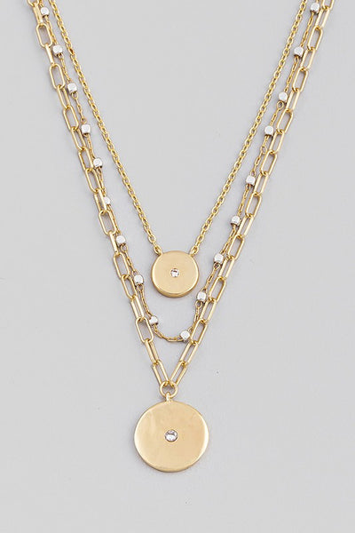 Layered disc necklace