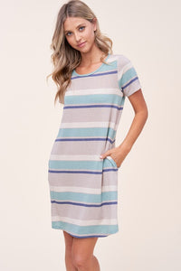 Spring Striped dress with pockets - the Christy