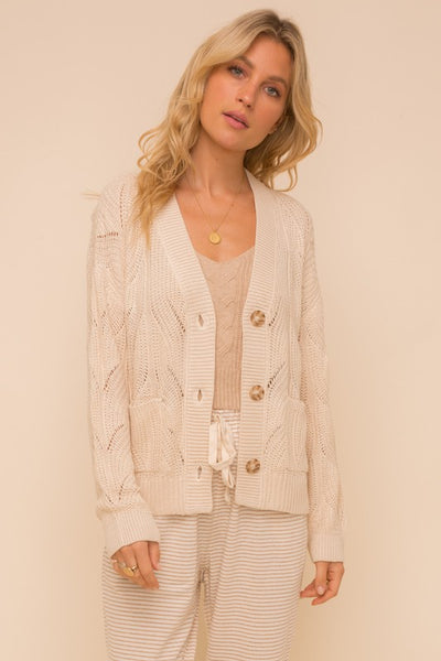 Textured button down cardigan - the Phoenix