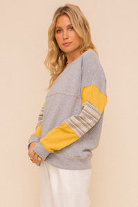 Stripe contrast pullover - the Atlanta