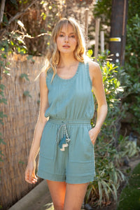 Raw edge tank romper - the Brooks
