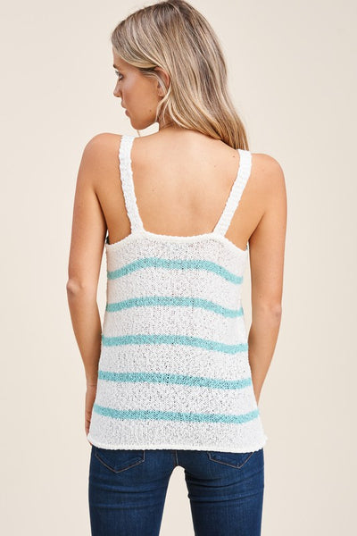 Lightweight striped sweater tank top - the Kylie