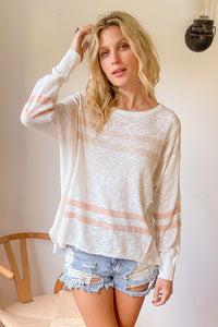 Color mix spring stripe sweater - the Carolina