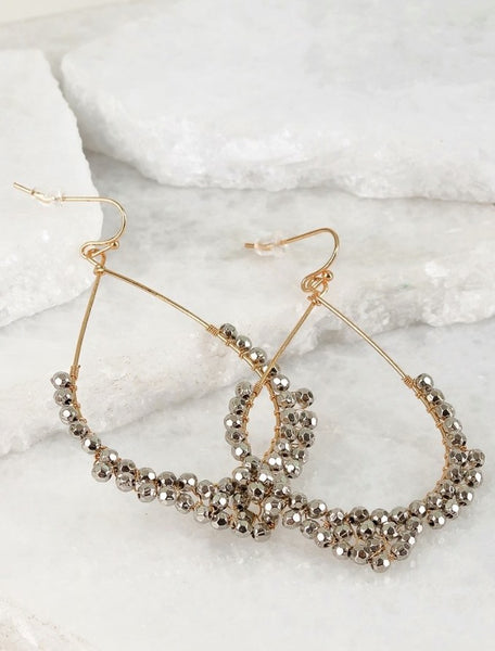 Wire drop earrings