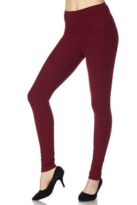 "Solid leggings with 5"" waistband"
