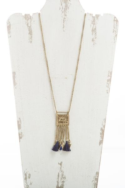 Long boho necklace