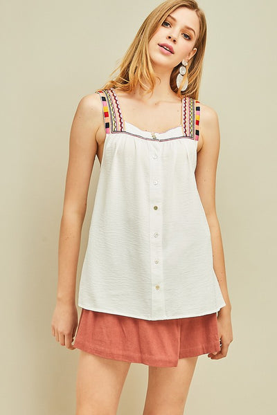 Maria Embroidered Tank