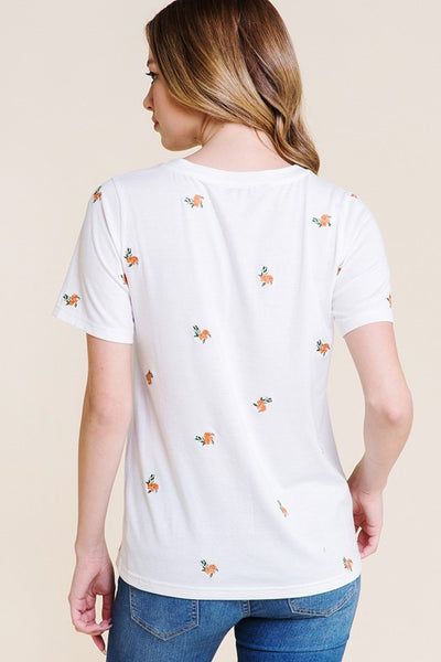 Amalia Embroidered Tee