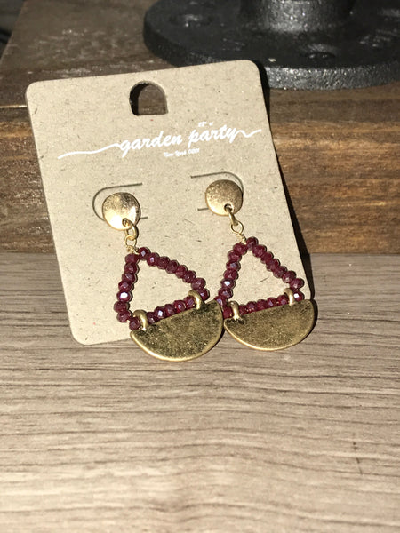 Gold beaded earrings - 2 colors