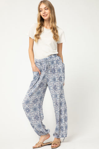 Printed lightweight Joggers - the Annabelle