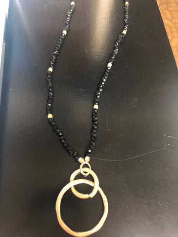 Black and gold Sparkle necklace