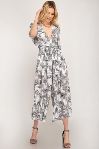 Bethany Tropical print jumpsuit