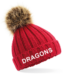 North Dragons Fur Pom Pom Hat
