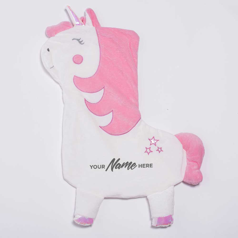 Personalised Deluxe Betty The Rainbow Unicorn Christmas Stocking