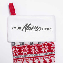 Personalised Deluxe Nordic Red Christmas Stocking
