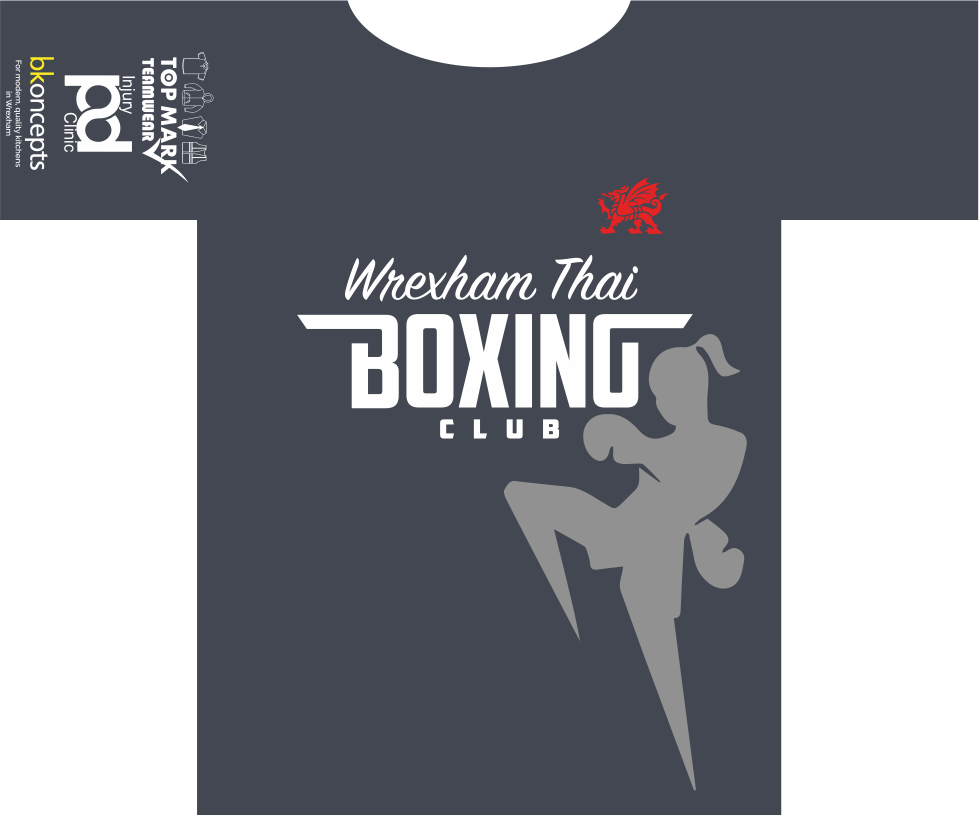 Wrexham Thai Boxing Premium Sponsored Short Sleeved T-Shirt