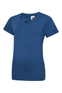 Ladies Classic V Neck T Shirt