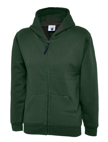 Childrens Classic Full Zip Hooded Sweatshirt