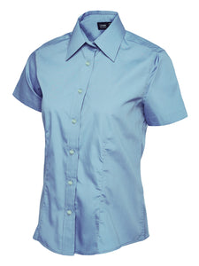 Ladies Poplin Half Sleeve Shirt