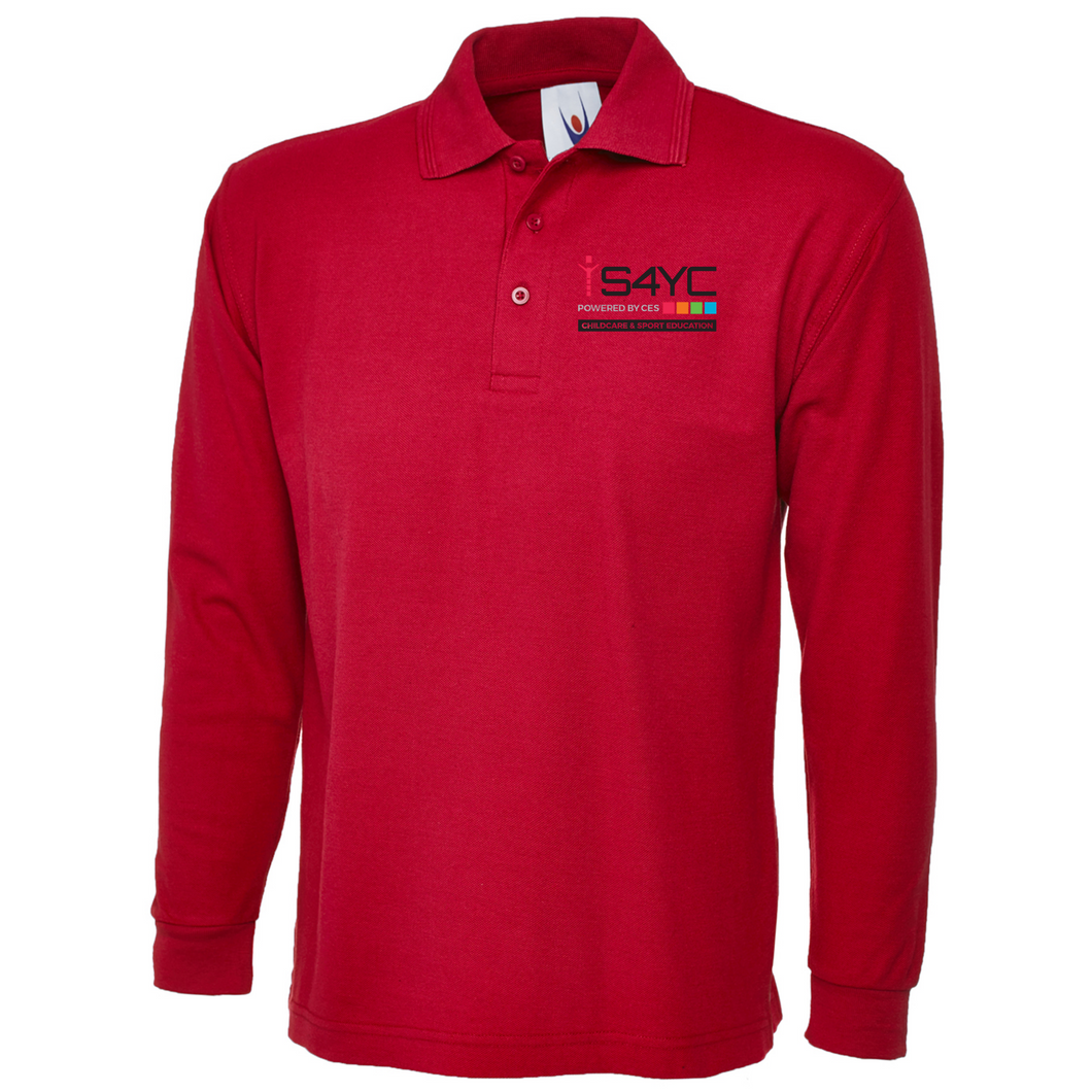 S4YC Unisex Staff Long Sleeved Polo