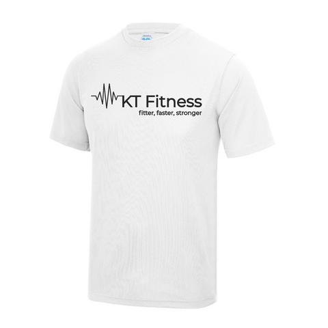KT Fitness - White Active T-Shirt