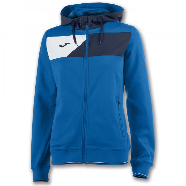 JOMA HOODED JACKET CREW II ROYAL WOMAN