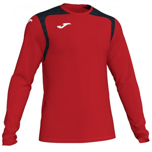 JOMA T-SHIRT CHAMPION V RED-BLACK L/S